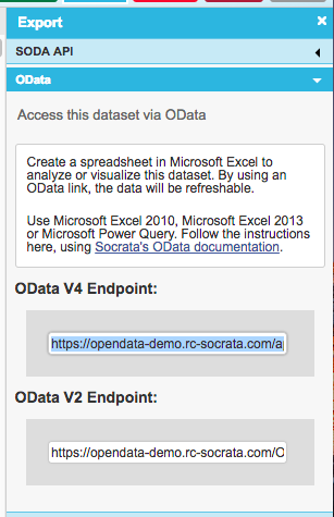 Analyze Socrata data in Microsoft Excel® using Socrata Open Data