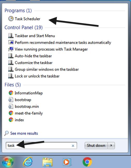 Scheduling a DataSync Update Job Using Windows Task Scheduler